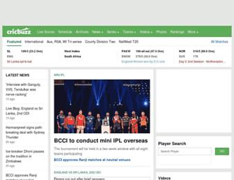 Thumbshot of Cricbuzz.com