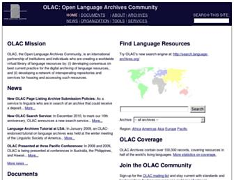 language-archives.org screenshot