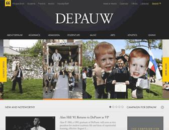 Main page screenshot of depauw.edu