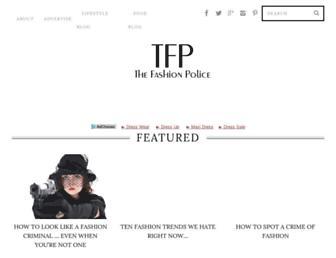 Main page screenshot of thefashionpolice.net
