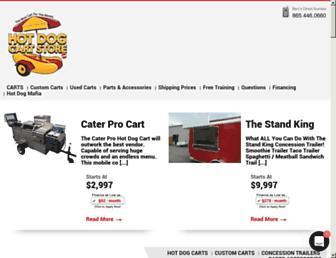 hotdogcartstore.com screenshot