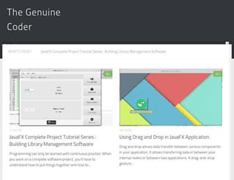 genuinecoder.com screenshot
