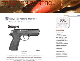 Main page screenshot of tractioncontrol.well-regulatedmilitia.org