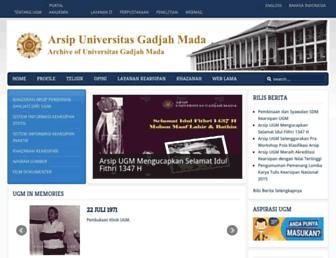 arsip.ugm.ac.id screenshot