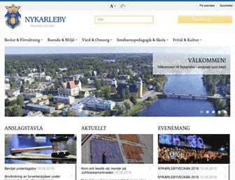 Main page screenshot of nykarleby.fi