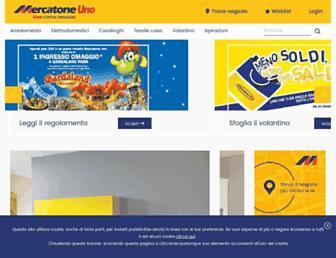 mercatoneuno.com screenshot
