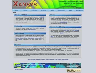 xansys.org screenshot
