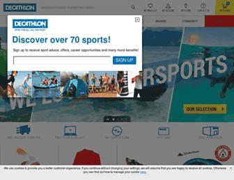 Main page screenshot of decathlon.co.uk