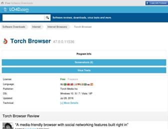 torch-browser.en.lo4d.com screenshot