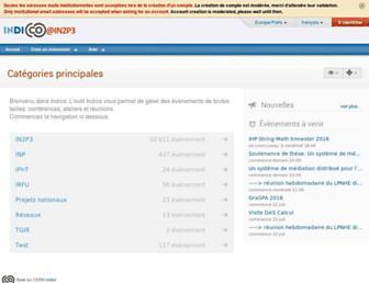 indico.in2p3.fr screenshot