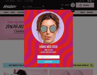 Main page screenshot of madlady.se