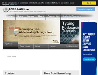 sense-lang.org screenshot