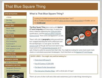 bluesquarething.co.uk screenshot