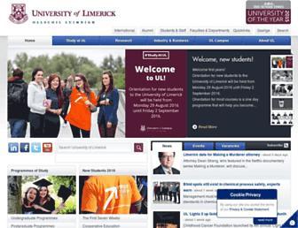 www3.ul.ie screenshot