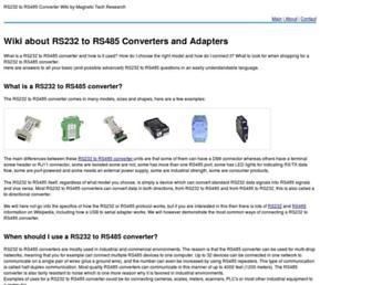 rs232-to-rs485.com screenshot