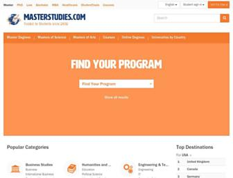 masterstudies.com screenshot
