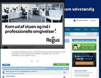 Main page screenshot of amino.dk