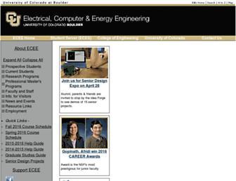ecee.colorado.edu screenshot