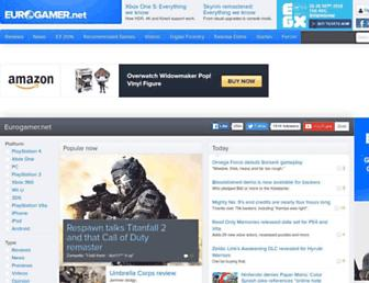 Main page screenshot of eurogamer.net
