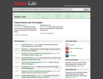 labs.adobe.com screenshot