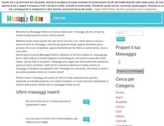 Main page screenshot of messaggi-online.it