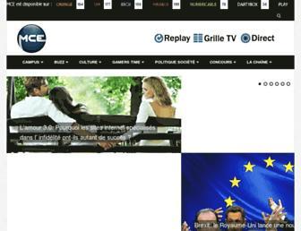 mcetv.fr screenshot