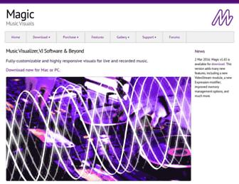 magicmusicvisuals.com screenshot