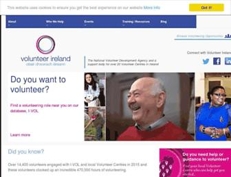 volunteer.ie screenshot