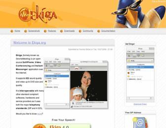 ekiga.org screenshot
