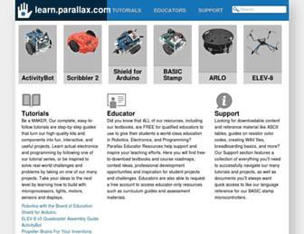 learn.parallax.com screenshot