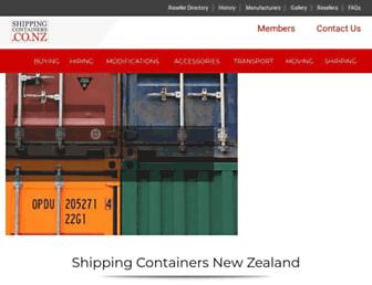 shippingcontainers.co.nz screenshot