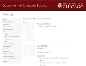 Main page screenshot of people.cs.uchicago.edu