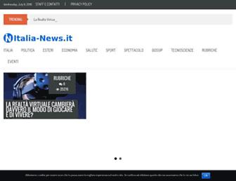 Main page screenshot of italia-news.it
