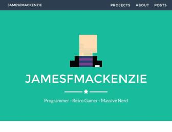 jamesfmackenzie.com screenshot