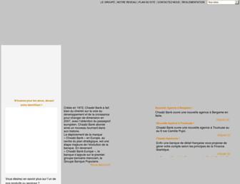 Main page screenshot of chaabibank.fr