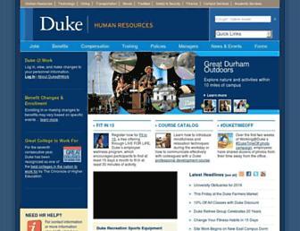 hr.duke.edu screenshot