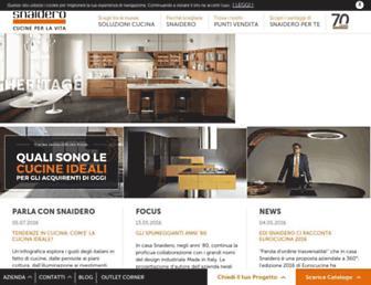 Main page screenshot of snaidero.it