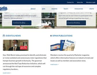 Main page screenshot of kpma.net