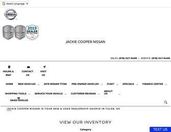 jackiecoopernissan.com screenshot