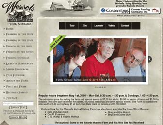 Main page screenshot of livinghistoryfarm.org