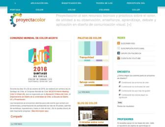 Main page screenshot of proyectacolor.cl