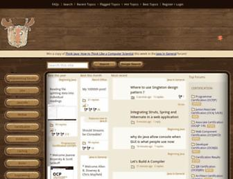 Screenshot for coderanch.com