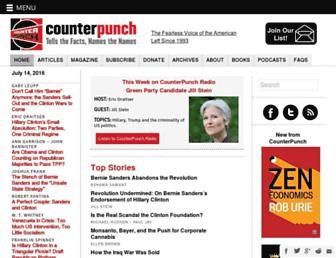 Main page screenshot of counterpunch.org