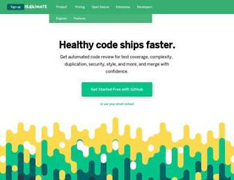 Thumbshot of Codeclimate.com