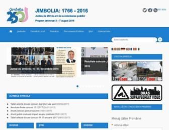 Main page screenshot of jimbolia.ro