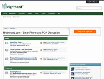 forum.brighthand.com screenshot