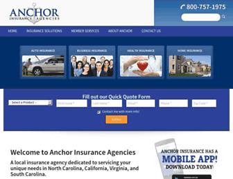 anchor-insurance.com screenshot