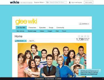 glee.wikia.com screenshot