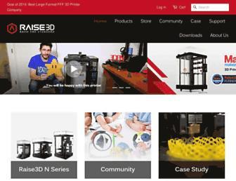 raise3d.com screenshot