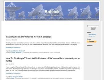 bohack.com screenshot